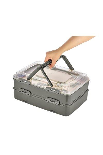 Takeaway Dublex Pasta Ve Börek Taşıma Kabı Antrasit L-00718-a1