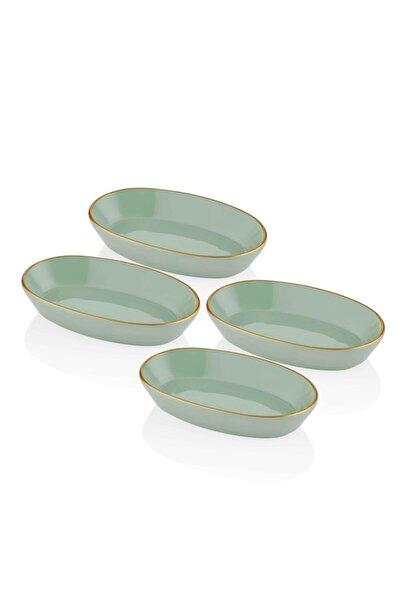 Basic Oval Servis Yeşil - 17 Cm 4 Lü Set