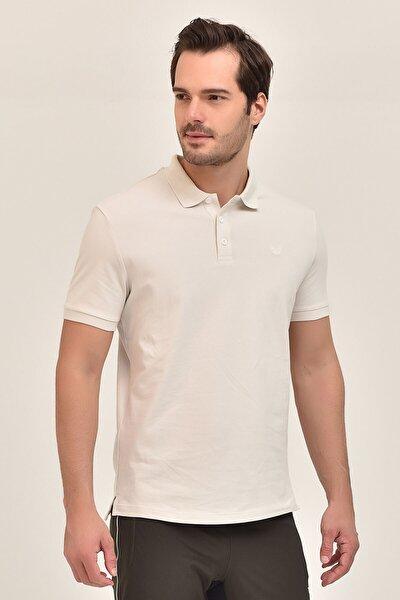 Gri Büyük Beden Polo Yaka Erkek  T-Shirt GS-8983