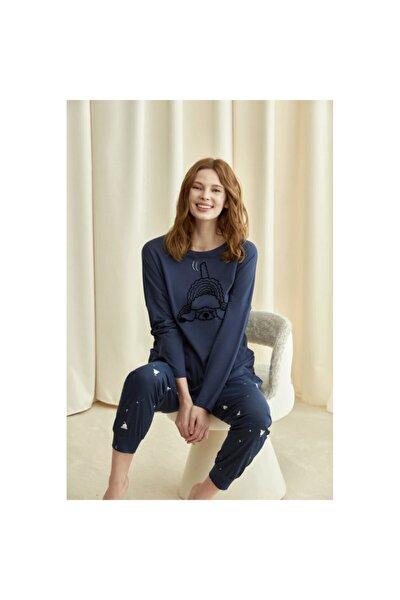 Kadın Lacivert Pijama Takımı