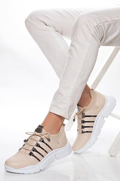 Kadın Bej Sneaker