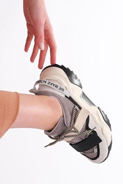 Kadın Siyah Sneaker Dolgu Topuk Spor Ayakkabı Farley