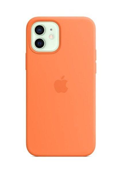 Iphone 12 Logo Baskılı Açık Pembe Lansman Altı Kapalı Iç Kadife Kılıf