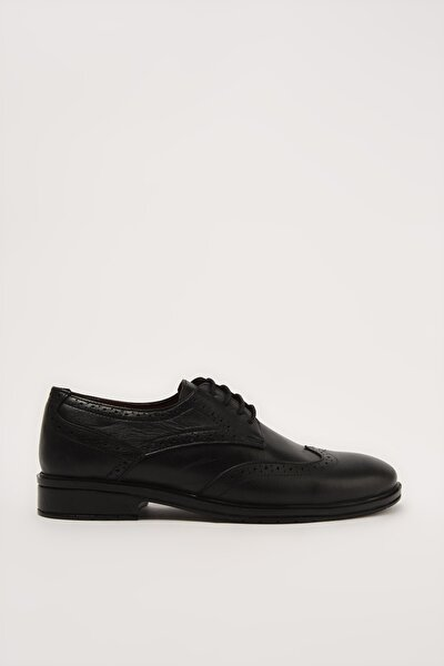 Hakiki Deri Erkek Siyah Klasik Ayakkabı 02AYH211020A100