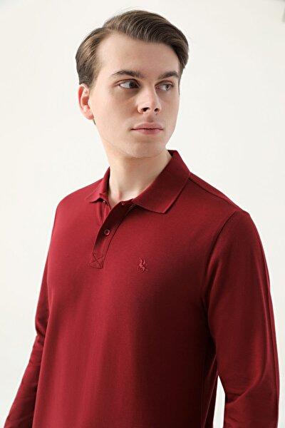 Ds Damat Regular Fit Bordo Pike Dokulu T-shirt