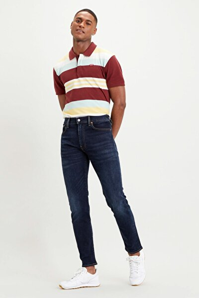 Erkek Mavi Slim Taper Fit Jean Pantolon