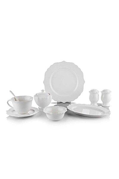 Naiv 34 Parça Beyaz Porselen Kahvaltı Takımı-byz03