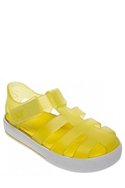 Kız Çocuk Sarı Star Sandalet