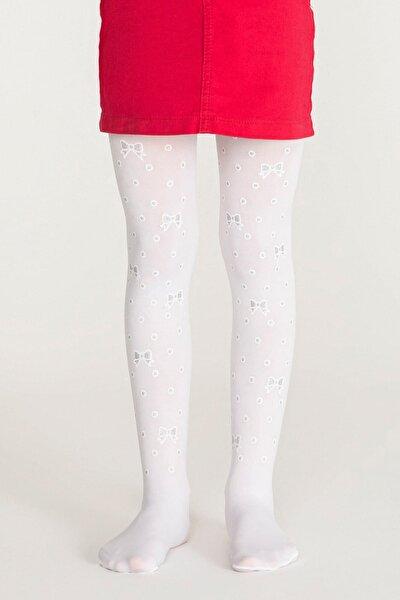 Kız Çocuk Dot Bow Külotlu Çorap