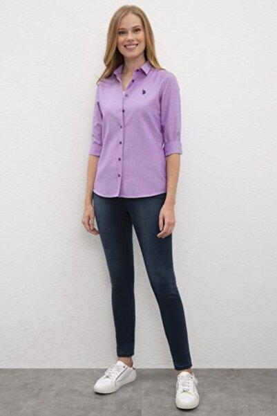 Kadın Mor Uzun Kollu Gömlek