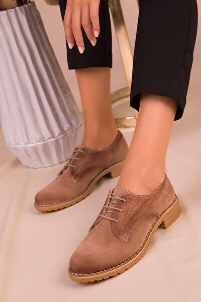 Vizon Süet Kadın Casual Ayakkabı 15440