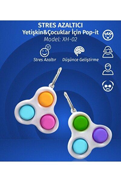 Pop-it Push Bubble Fidget Özel Pop Duyusal Oyuncak Zihinsel Stres Anahtarlık