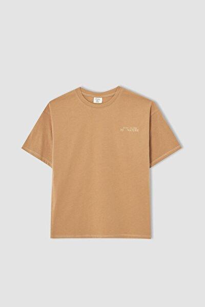 Erkek Çocuk Oversize Fit Baskılı Kısa Kollu Tişört