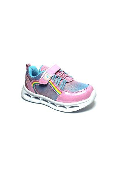 Kız Çocuk Pembe Işıklı Yürüyüş ve Spor Ayakkabısı
