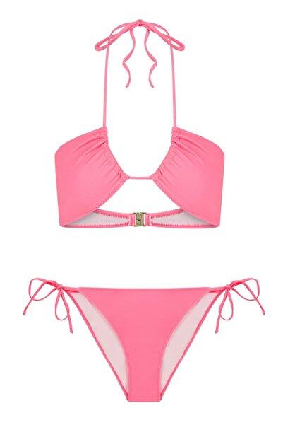 Halter Yaka Neon Bikini Takım
