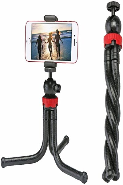 Esnek Flexible Tripod Kamera Profesyonel Telefon Tutucu 360 Derece Tripot