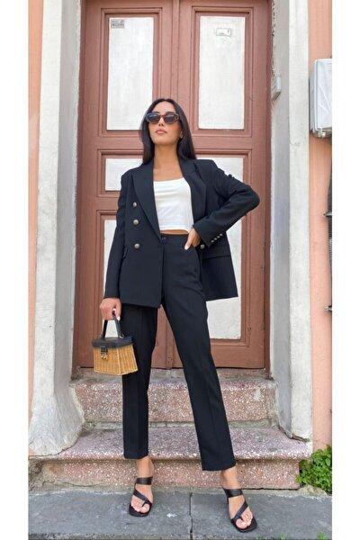 Siyah 3 Düğme Ceket Pantolon Takım