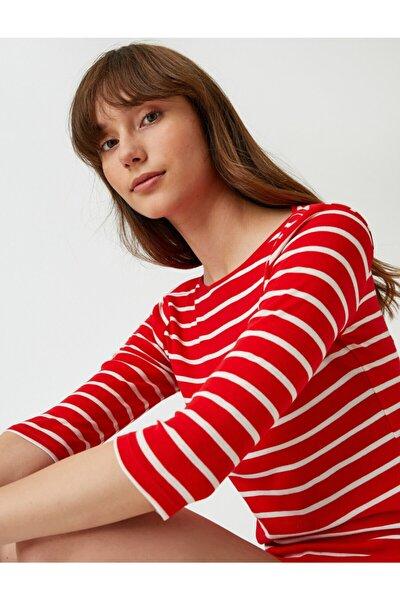 Uzun Kollu Basic Tişört Çizgili