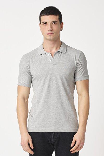 Erkek Slim Fit Düz Basic Polo Yaka T-shirt