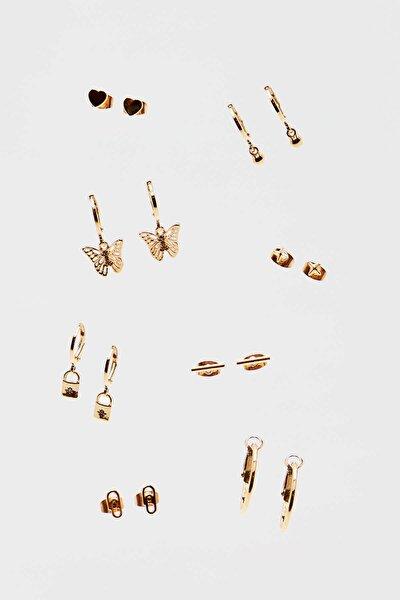 8'li Kelebek Küpe Seti