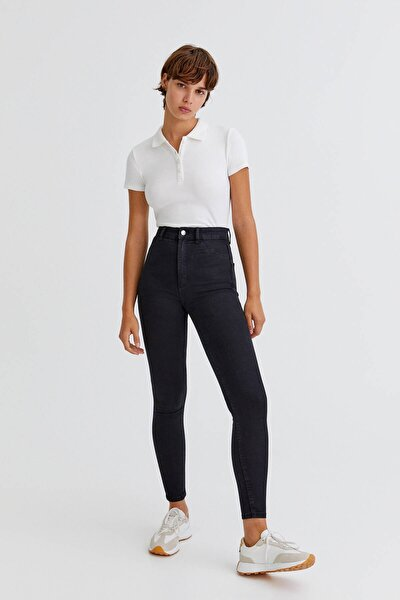 Yüksek Bel Streç Skinny Fit Jean