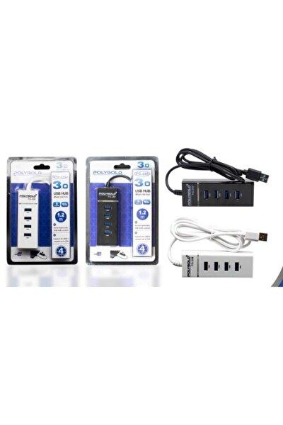 4 Port Usb Hub 3.0 Usb Çoklayıcı Işıklı Usb Çoğaltıcı Switch Port Siyah