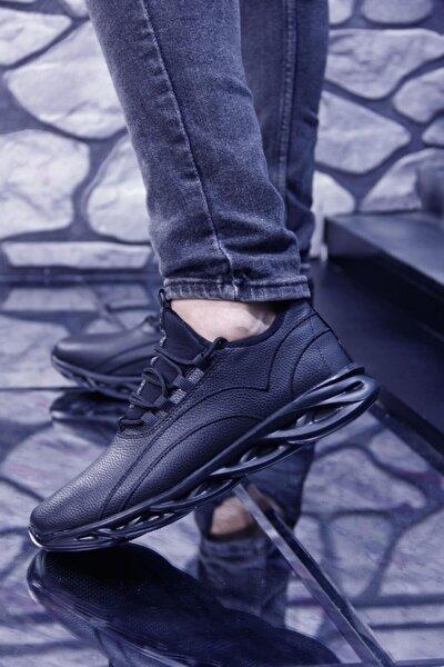Hafif Ve Esnek Tabanlı Rahat Giyimli Suya Dayanıklı Erkek Spor Ayakkabı Siyah, Siyah Beyaz, Siyah Sa