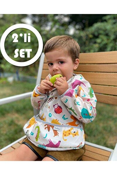 2'li Set Deluxe Uzun Kollu Bebek Önlüğü 1-2 Yaş
