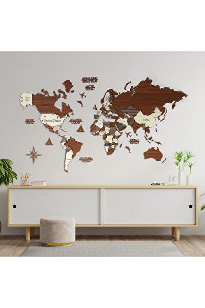 3 Boyutlu Ahşap Dünya Haritası, Ahşap Duvar Dekoru, Duvar Tablo, Gerçek Dünya Haritası,dekorasyon