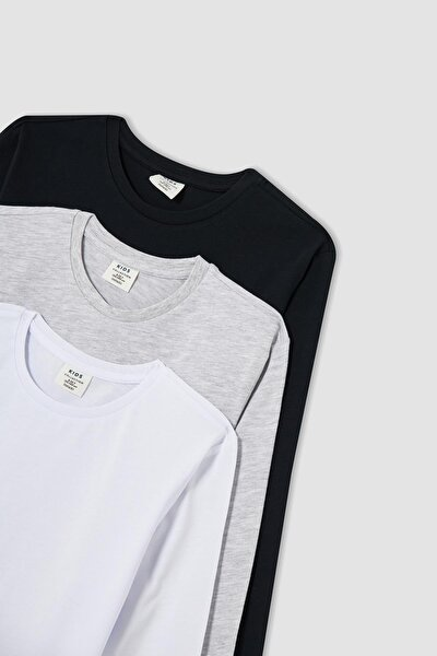 Erkek Çocuk Regular Fit Basic 3'lü Uzun Kollu Tişört
