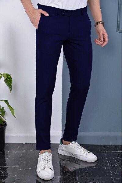 Erkek Lacivert Italyan Kesim Kaliteli Kumaş Pantolon