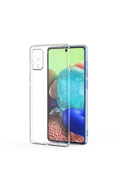 Galaxy A71 Uyumlu Kılıf Kamera Korumalı Yumuşak Şeffaf Ince Süper Silikon