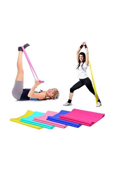 Pilates Bandı Plates Bantı Egzersiz Lastiği Yoga Egzersiz Bandı