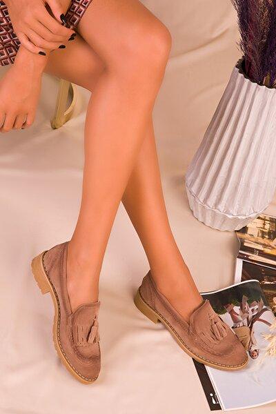 Vizon Süet Kadın Casual Ayakkabı 15473