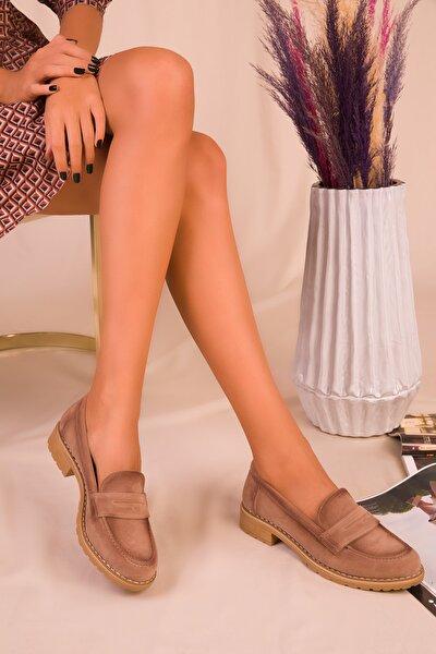 Vizon Süet Kadın Casual Ayakkabı 15471