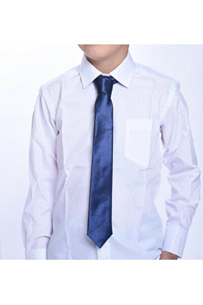 Erkek Çocuk Uzun Kol Beyaz Okul Gömlek