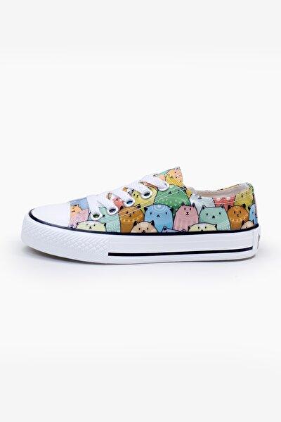 Renkli Kediler Ayakkabı