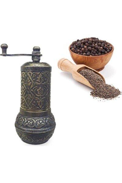 Antik Pirinç Osmanlı Tarzı Zamak Karabiber Tuz Pirinç Değirmeni Dekoratif Minik Öğütücü