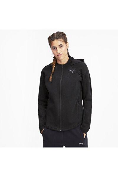 EVOSTRIPE Fermuarlı Kadın Kapüşonlu Sweatshirt