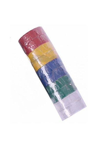 Renkli Elektrik Bandı 10 Lu Izole Bant Renkli Bant