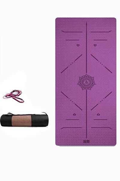 Yoga Matı Ve Pilates Minderi Mor Tpe