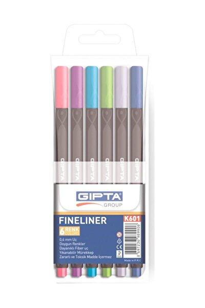 Fineliner Kalem 0.4 Mm Pvc Kutu 6 Renk