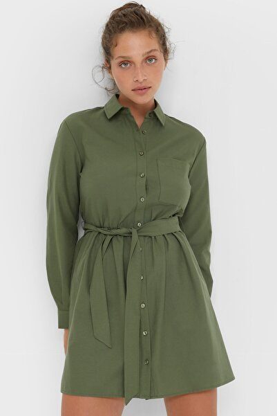 Mini Oxford Gömlek Elbise