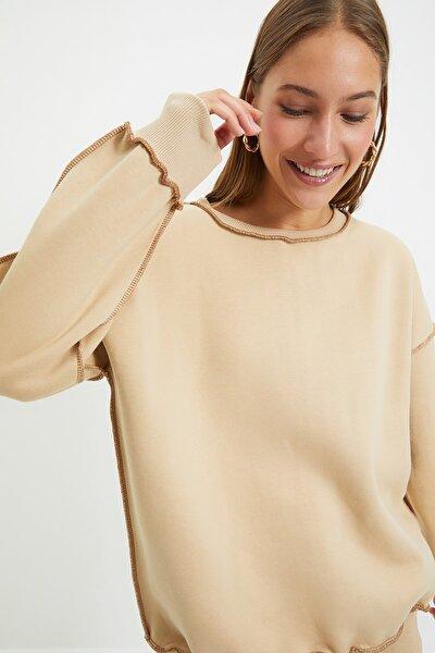 Vizon Karyoka Dikişli Basic Örme Şardonlu Sweatshirt TWOAW22SW0267