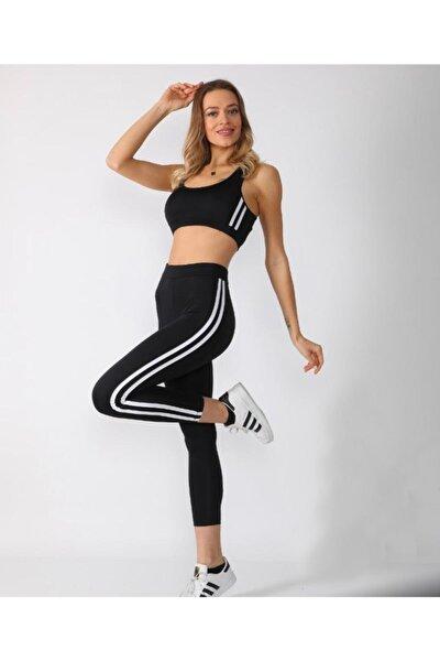 Kadın Yüksek Bel Toparlayıcı Sporcu Tayt Takım