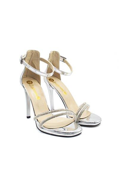 Gümüş Kadın Klasik Topuklu Ayakkabı
