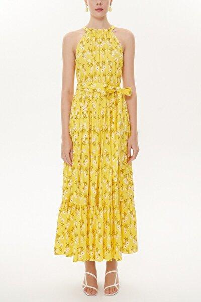 Askılıklı Sıfır Kollu Bol Kesim Elbise 93470