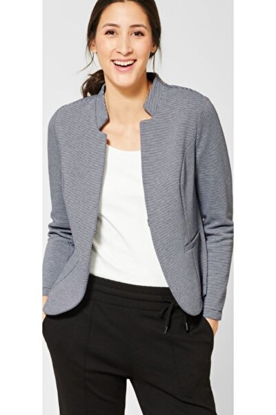 Klasik Çizgili Blazer Ceket