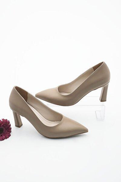 Kadın Vizon Stiletto Topuklu Ayakkabı Akuna