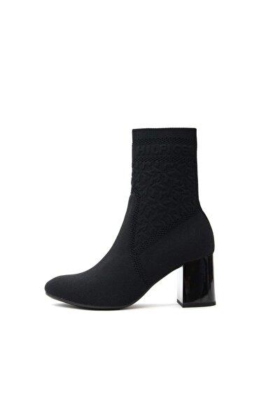 Th Knıtted Mıd Heel Boot Kadın Ayakkabı